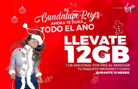 Virgin hace que tu Guadalupe Reyes dure todo el año ¡12 gigas gratis!