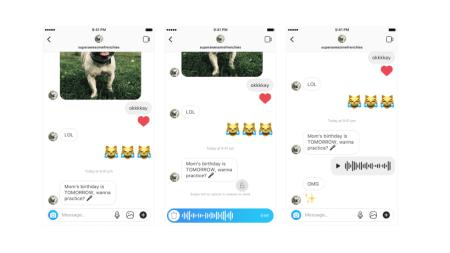 Instagram ahora añade mensajería de voz a los Mensajes Directos