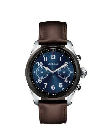 Summit 2 nuevo smartwatch de Montblanc ¡redefine la elegancia de la conectividad! - montblanc_smartwatch_steel_front_bicolor
