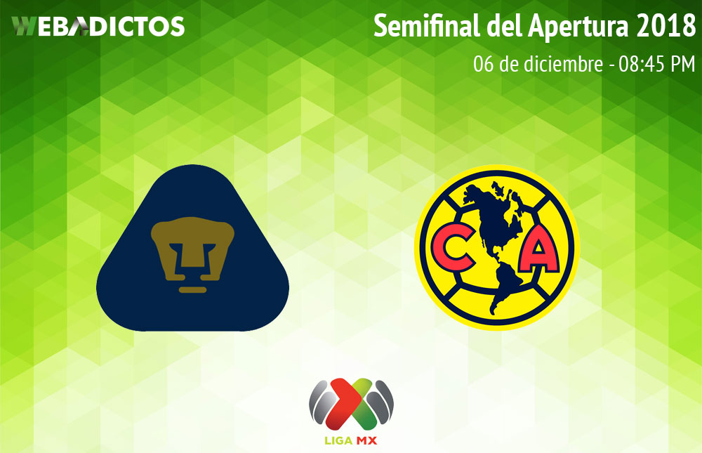 Pumas vs América, Semifinal del Apertura 2018 ¡En vivo por internet! - pumas-vs-america-semifinal-apertura-2018