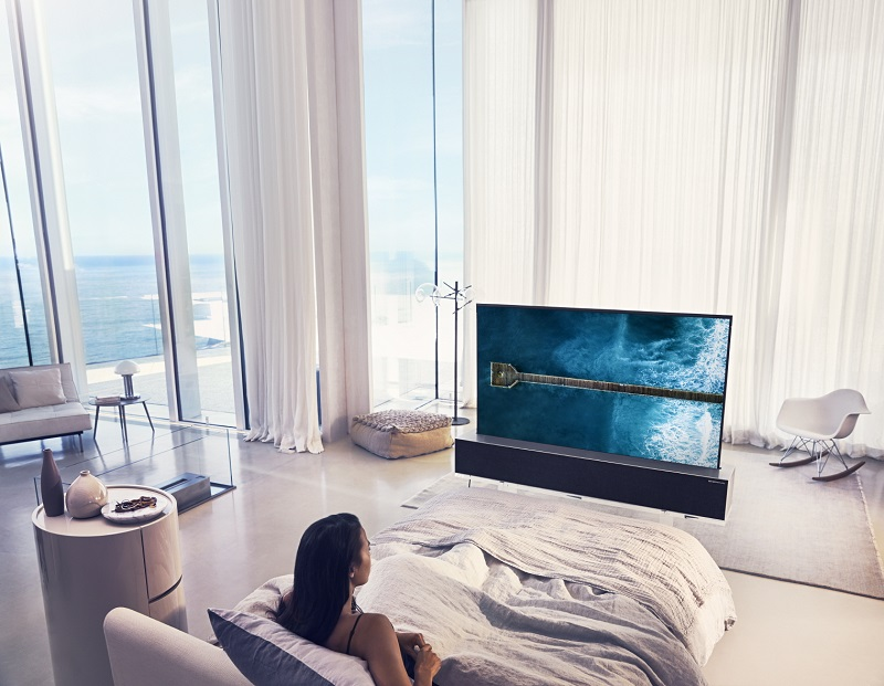 CES 2019: LG presenta el primer televisor OLED enrollable del mundo - televisor-lg-oled-enrollable