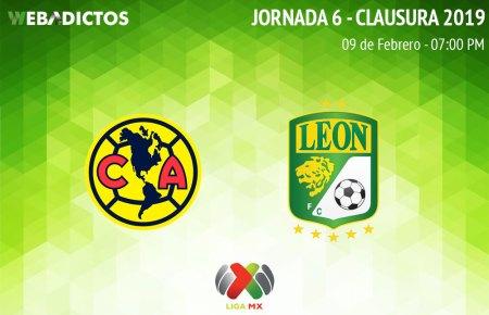 América vs León, Jornada 6 del C2019 ¡En vivo por internet!