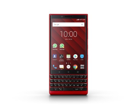 BlackBerry KEY2 Red Edition es presentado en el MWC19
