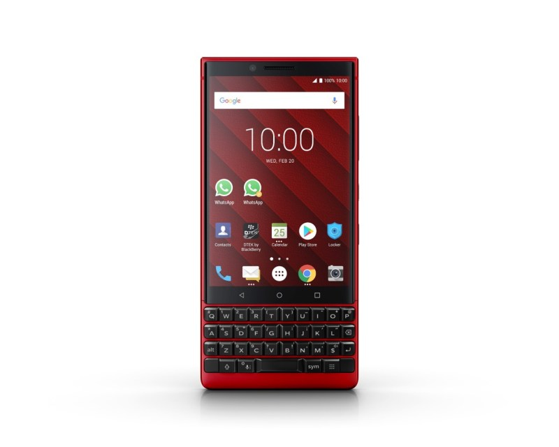 BlackBerry KEY2 Red Edition es presentado en el MWC19 - bb-key2-red-2019_1-800x640
