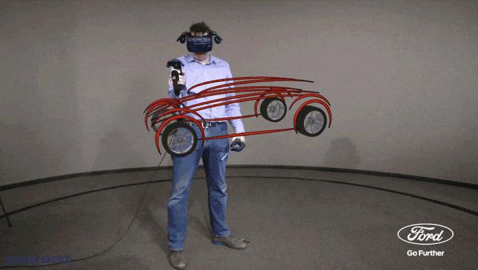 Ford explorar nueva herramienta de realidad virtual 3D para crear diseños de vehículos en menor tiempo - gravity-sketch-herramienta-de-realidad-virtual-3d