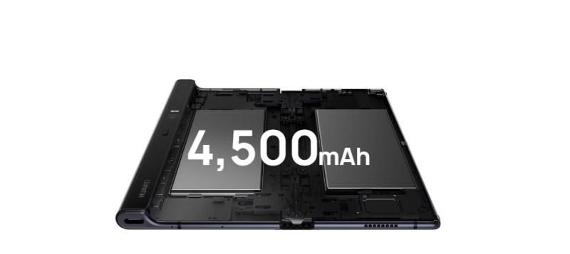 El Huawei Mate X ya es real: pantalla flexible y 5G, sus características principales - hmx-bateria-800x356