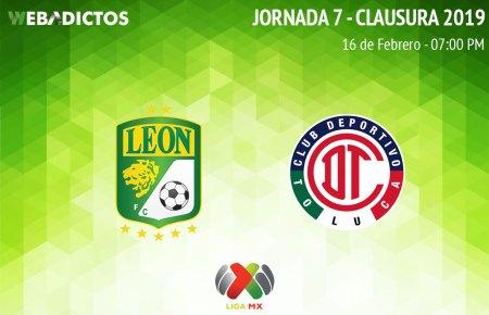 León vs Toluca, J7 del Clausura 2019 ¡En vivo por internet!
