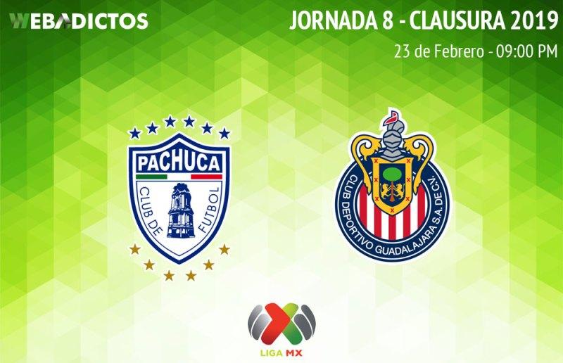 Pachuca vs Chivas, ver en vivo por internet | J8 C2019 - pachuca-vs-chivas-clausura-2019
