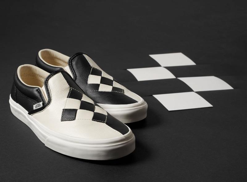 Vans presenta Woven y Patchwork, dos colecciones muy llamativas - sp19_classics_classicslip-on_wovenleather_checkerboard-800x590
