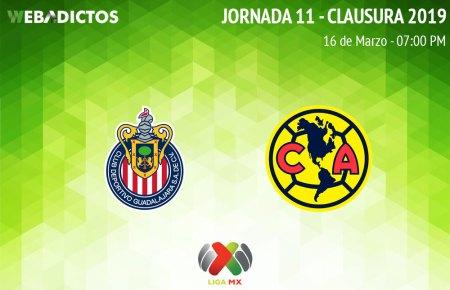Chivas vs América, J11 del Clausura 2019 ¡En vivo por internet!