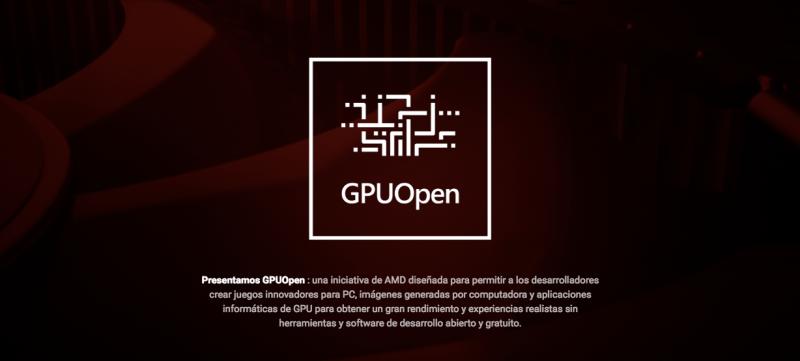 GDC 2019: AMD mejora sus herramientas de software abierto para desarrolladores de juegos - gpuopen-800x361