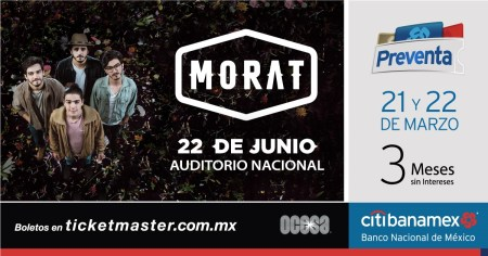 Morat regresa a la Ciudad de México el 22 junio