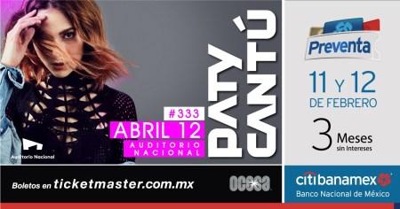 Paty Cantú llegará al Auditorio Nacional con su gira #333Live