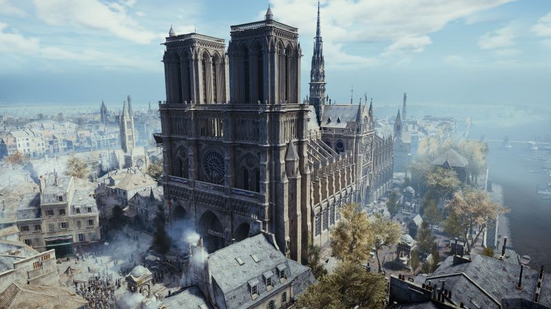 Ubisoft regala Assassin's Creen Unity para PC, homenajeando a la Catedral de Notre Dame - assassins-creed-unity-notre-dame