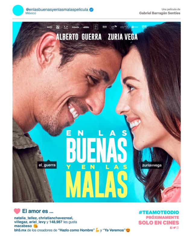 En las buenas y en las malas se mantiene en el Top Ten de cine en México - en-las-buenas-y-en-las-malas-pelicula-mexicana