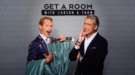 Episodio de estreno Get a Room con Carson y Thom