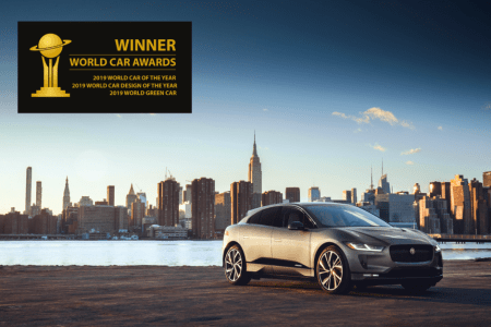 Jaguar I-PACE gana sin precedentes tres premios en los World Car Awards