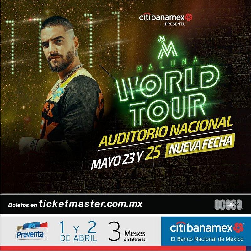 Nueva fecha de Maluma en el Auditorio Nacional - maluma-world-tour-cdmx