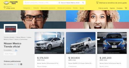Mercado Libre y Nissan se unen para la venta de vehículos nuevos en línea