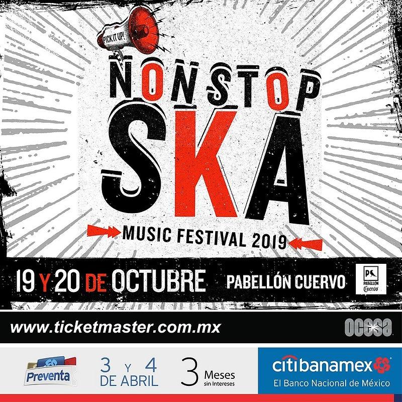 Non Stop Ska!, la tercera edición del festival de ska más importante en México - non-stop-ska-2019