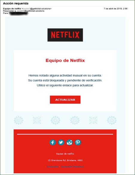 ¡Cuidado! nuevo phishing de Netflix busca robar credenciales de usuarios - nuevo-phishing-de-netflix