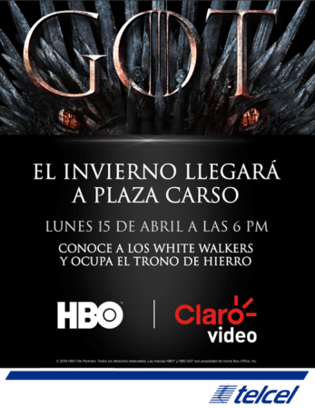 ¡Fans de Game of Thrones! los White Walkers y el espectacular Trono de Hierro llegan a Plaza Carso