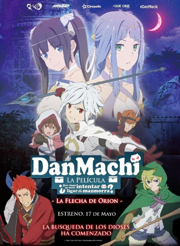 Animé en Cinépolis ¡Conoce los títulos en mayo! - dan-machi-585x800