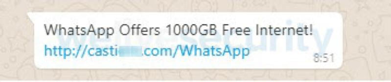 Alertan sobre un engaño que utiliza WhatsApp y ofrece 1000 GB para navegar por Internet - engancc83o-whatsapp