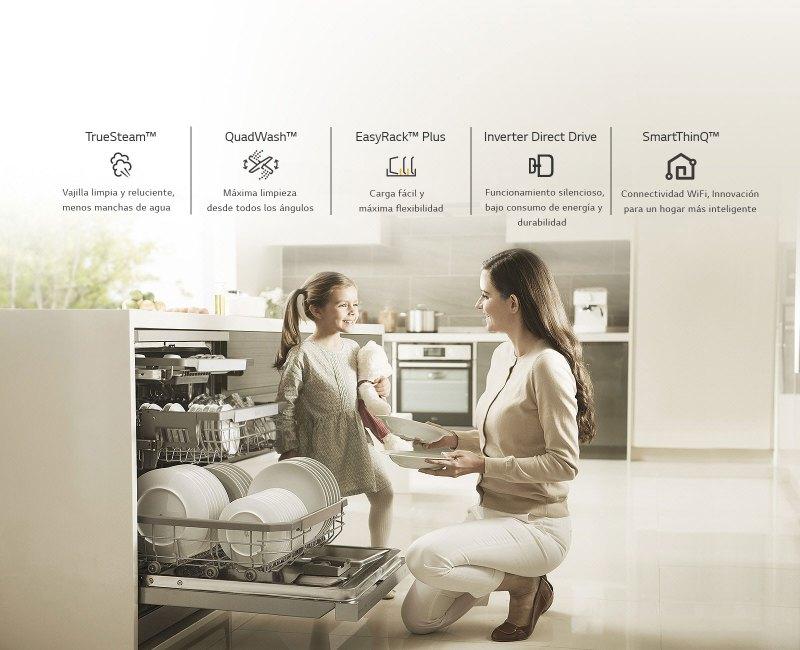 LG presenta en México su nueva línea de lavavajillas: LG QuadwashSteam - lavavajillas-lg-1