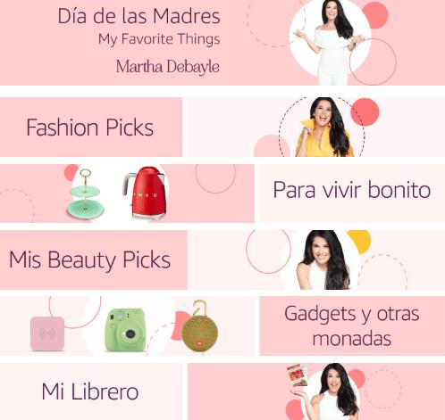 Amazon México lanza tienda especial de regalos para el día de las madres - martha-debayle-amazon