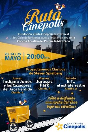 ¡Cine Gratis! Conoce las fechas y películas de la Ruta Cinépolis en mayo