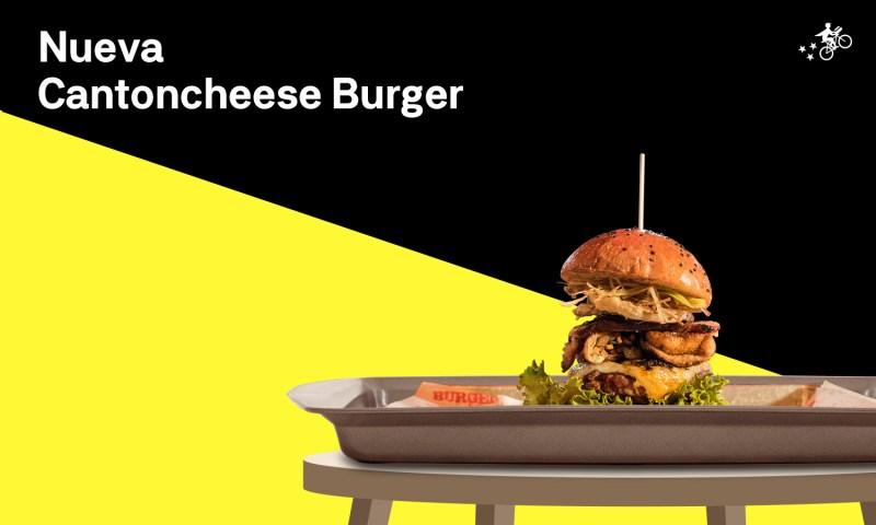 Conoce la nueva deliciosa Cantoncheese Burger creación del chef Ismael Zhu, en alianza con Postmates - cantoncheese-burger-800x480