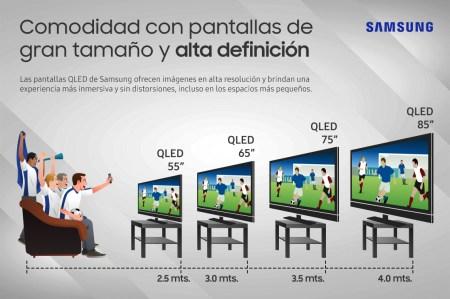 A qué distancia debe estar una pantalla de TV de gran tamaño