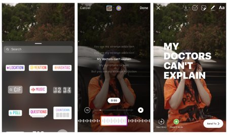 Instagram permitirá añadir letras de canciones a las historias