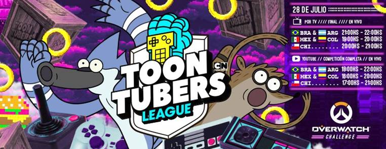 La final de Toontubers League será una gran batalla de Overwatch el 28 de julio - final-de-toontubers-league