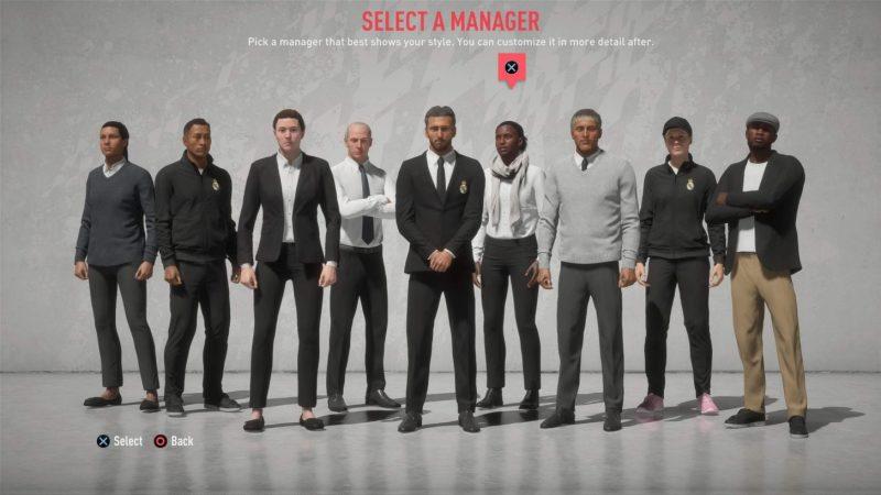 EA Sports FIFA 20: Más autenticidad y profundidad en el modo carrera - ea-sports-fifa-20-career-mode_manager_select-800x450