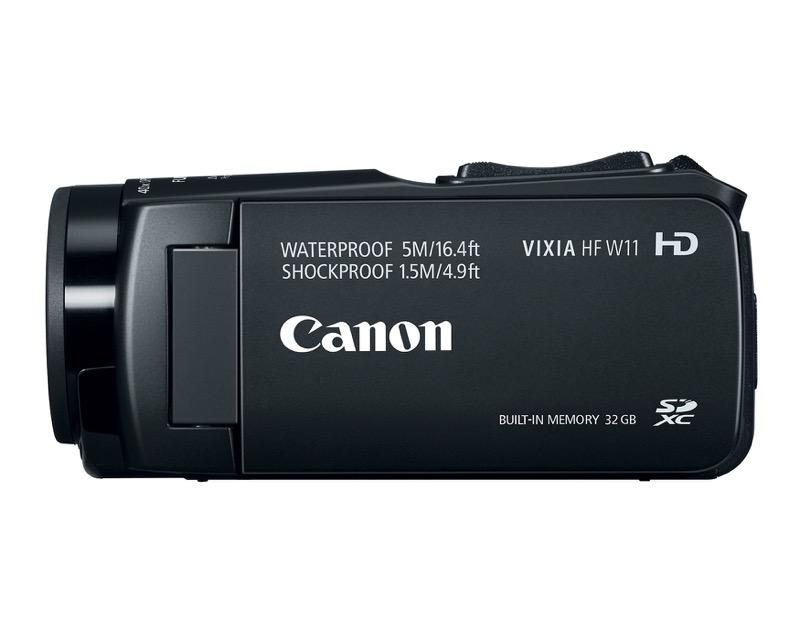 Nueva videocámara digital VIXIA de Canon resistente a prueba de agua e impactos - hr_vixia_hf_w11_side-800x640