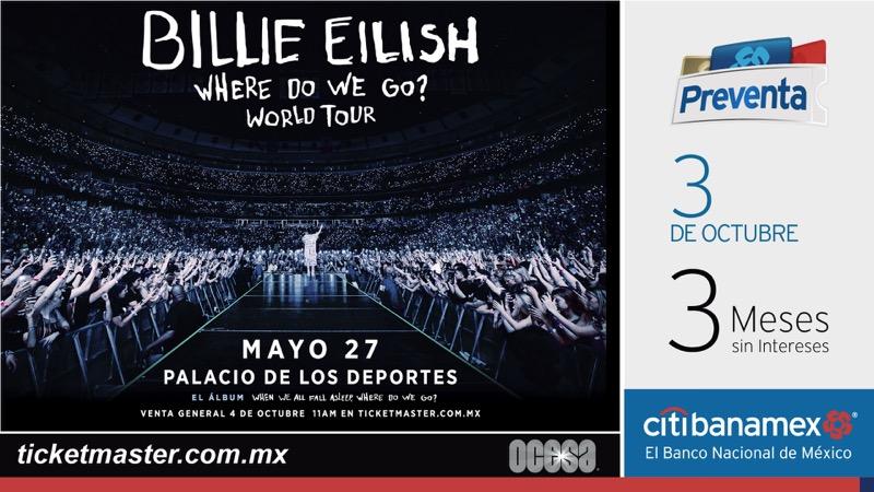 Billie Eilish anuncia concierto en la Ciudad de México y Guadalajara - billie-eilish-en-mexico-800x450