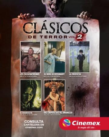 Regresan los clásicos del terror a Cinemex
