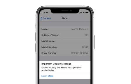 Los iPhone 11 y 11 Pro detectarán si has reemplazado su pantalla por una genérica