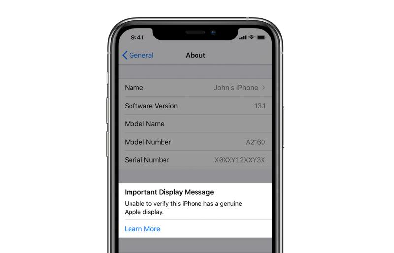 Los iPhone 11 y 11 Pro detectarán si has reemplazado su pantalla por una genérica - iphone-11-replaced-screen-alert