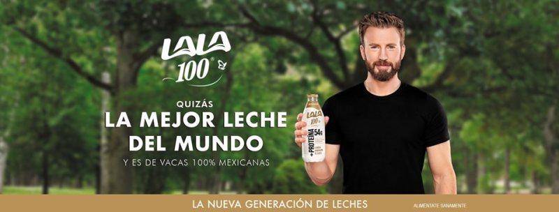 Grupo Lala presenta la nueva campaña de Lala 100, con Chris Evans - lala-100-800x304