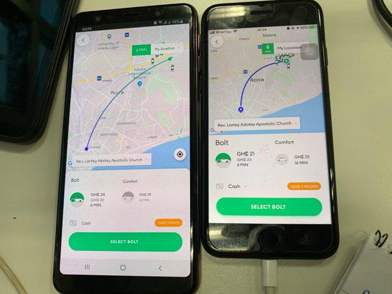 Tuit señala que Uber y similares usarían el nivel de batería para determinar el costo de los viajes - uber-bolt-price-surge-battery-involved