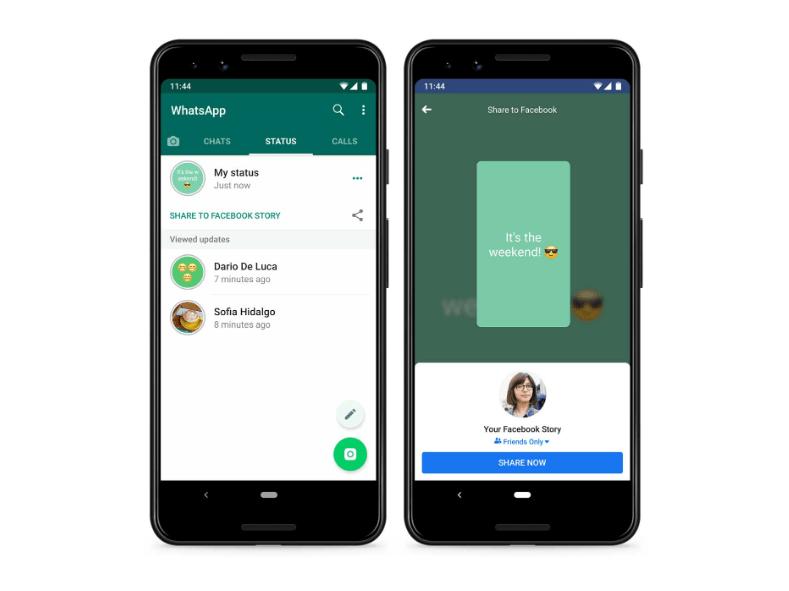 WhatsApp ya permite compartir estados como historias de Facebook - whatsapp-status-to-facebook-1