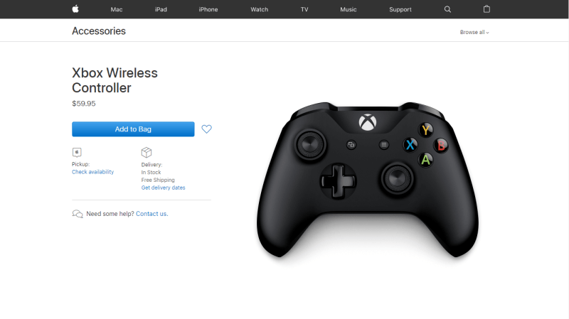 Apple empieza a vender el control Xbox en EE.UU. - apple-store-xbox-control