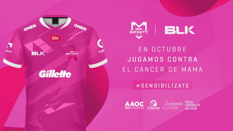Infinity Esports y BLK alcanzan un acuerdo y presentan camiseta rosa en octubre - infinity-esports-blk-camiseta-rosa