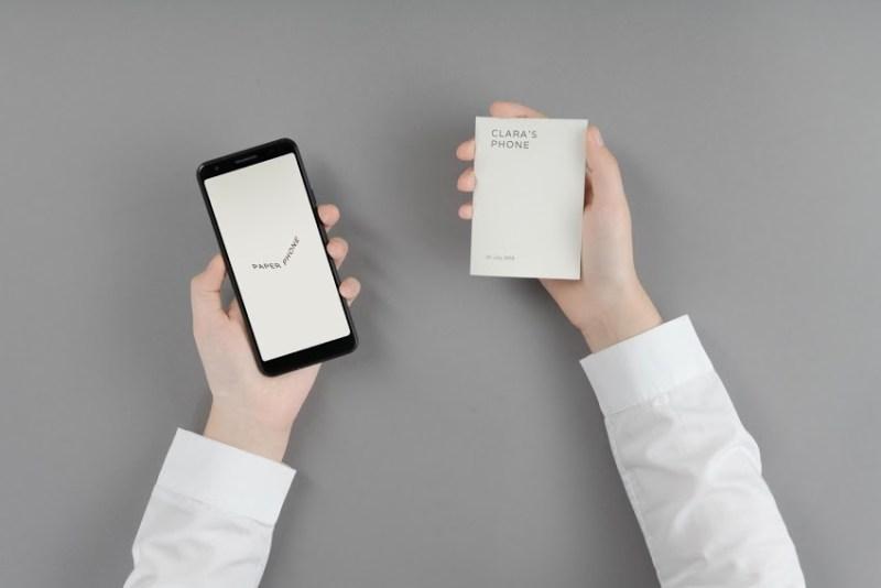 Paper Phone: Google busca desconectarte de tu smartphone concentrando lo más importante en papel - google-paper-phone