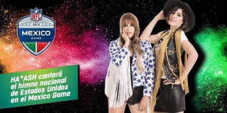 Ha*Ash, y Ana Bárbara interpretarán el Himno Nacional previo al Juego de México de la NFL