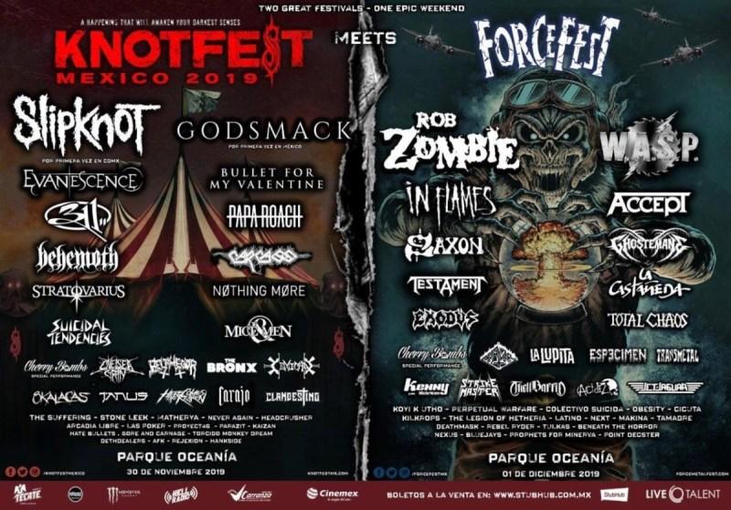 KnotFest y Force Fest México llega este fin de semana a CDMX - knotfest-force-fest-mexico-800x559
