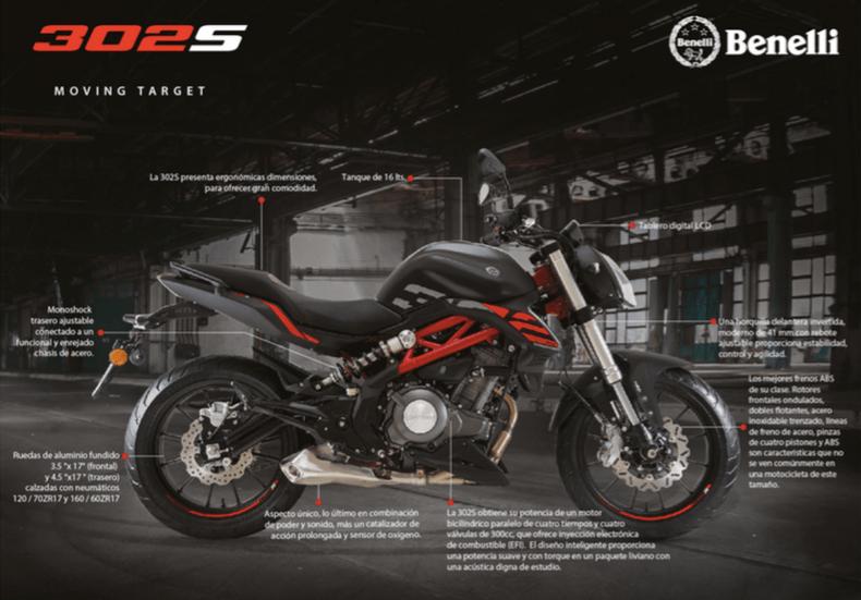 Benelli, marca Italiana de motocicletas lanza su colección 2020 en México - motocicleta-benelli-modelo-302s
